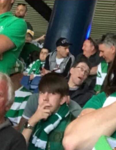 PHOTO: Rangers star snapped in Celtic end at Hampden