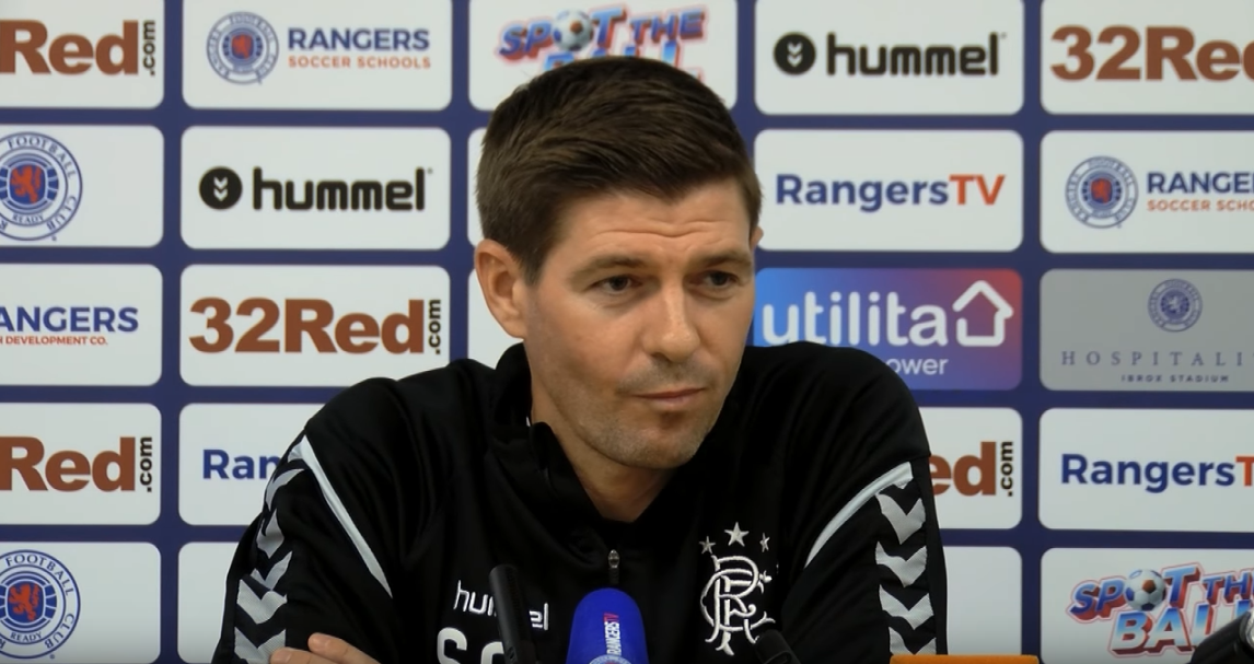"""""""You mean Hearts?"""": Steven Gerrard's acid tongue takes down yet another hapless reporter…."""