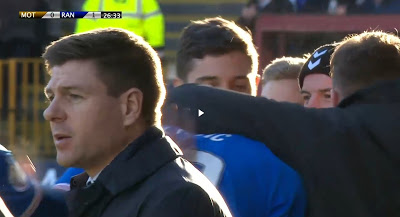 Rangers star appears to give Stevie the cold shoulder…