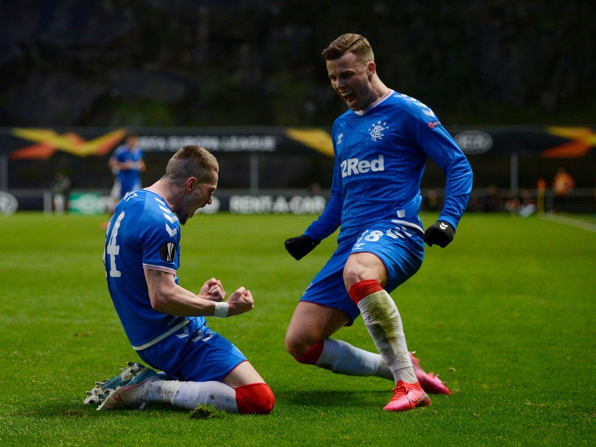 Rangers man goes 'balls deep'.