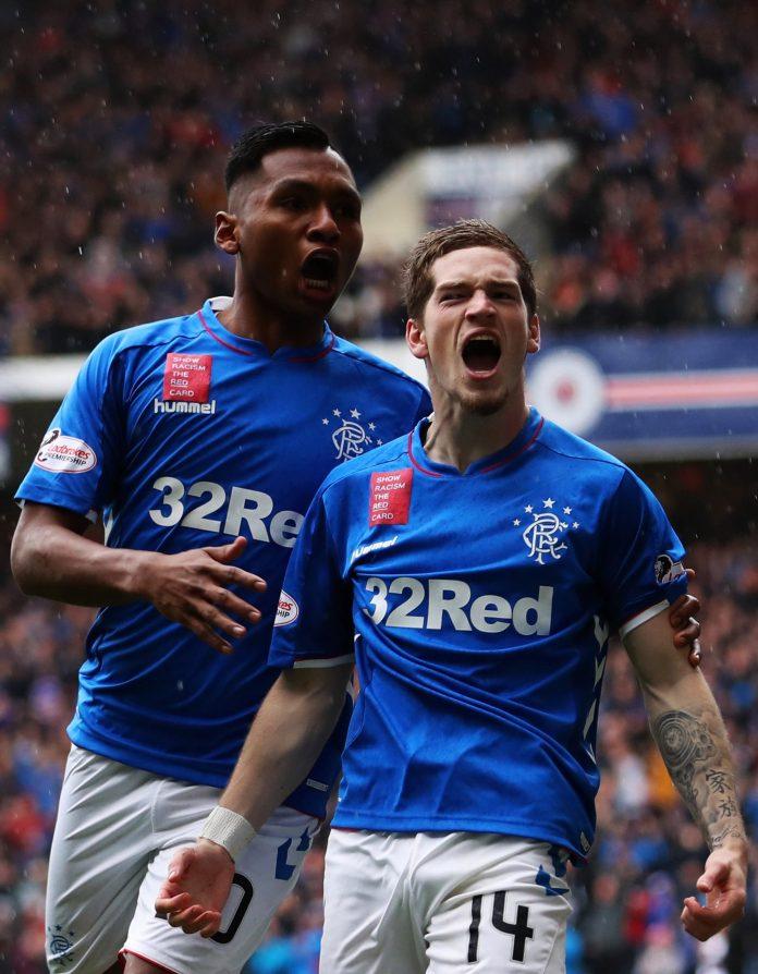 Rangers striker Alfredo Morelos and winger Ryan Kent