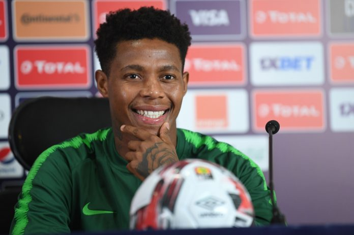 South Africa's midfielder Bongani Zungu attends a press conference at the Cairo International stadium in the capital, on July 5, 2019, on the eve of the 2019 Africa Cup of Nations (CAN) top 16 match between Egypt and South Africa.