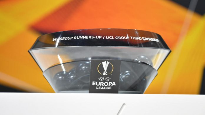 NYON, SWITZERLAND DECEMBER 16: A pot with balls in during the UEFA Europa League 2019/20 Round of 32 Draw at the UEFA headquarters, The House of European Football on December 16 2019 in Nyon, Switzerland.