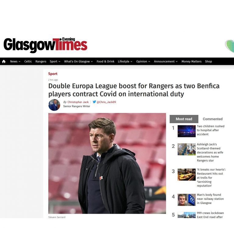 Rangers outrage after shocker of a headline