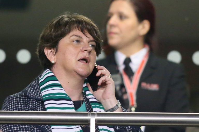 Mirth at Parkhead as Arlene Foster enters the running…