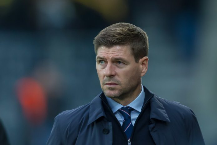 BERN, SWITZERLAND - OCTOBER 03: head coach Steven Gerrard of Rangers FC looks on prior to the UEFA Europa League group G match between BSC Young Boys and Rangers FC at Stade de Suisse, Wankdorf on October 3, 2019 in Bern, Switzerland.