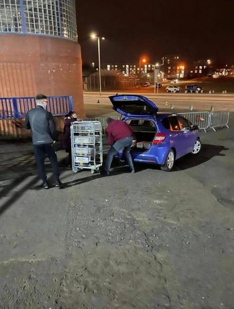 Rangers order in 'dial a booze' as party cranks up