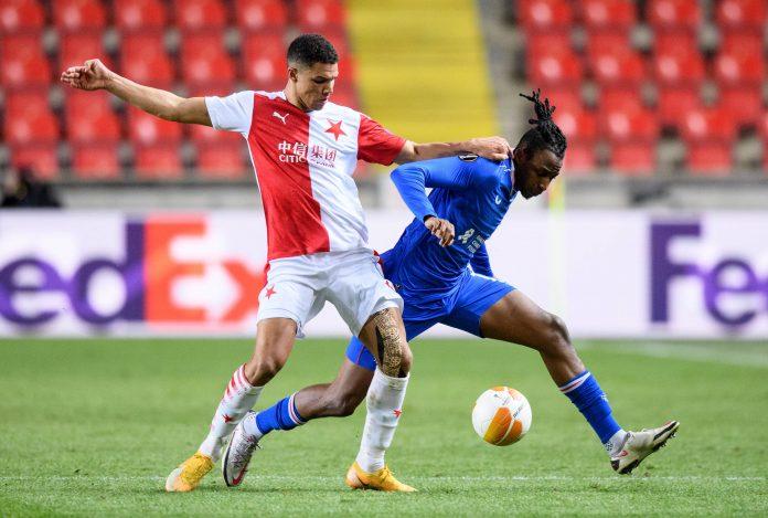 James Tavernier Alexander Bah Slavia Prague UEL