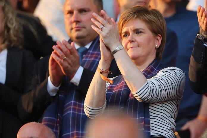 Rangers SNP Sturgeon 55 fans celebrations george square